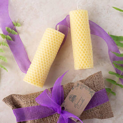 Hand-rolled Pure Beeswax Candle - Milea All Organics
