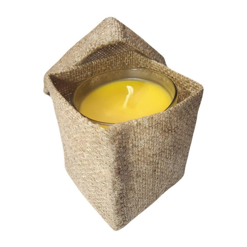 Natural Beeswax Candle Jar - Milea All Organics