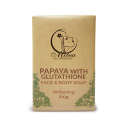 Papaya with Glutathione Whitening Soap Soaps Milea All Organics 100g