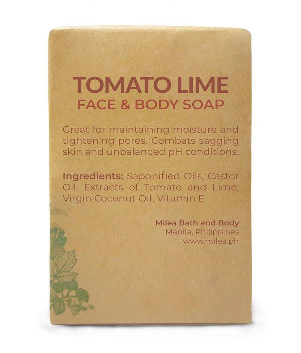 Tomato Lime Antibacterial Soap Soaps Milea All Organics