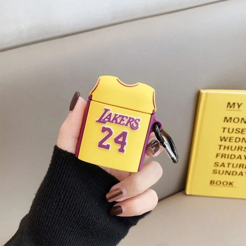 KOBE BRYANT AIRPOD CASE LAKERS No. 24