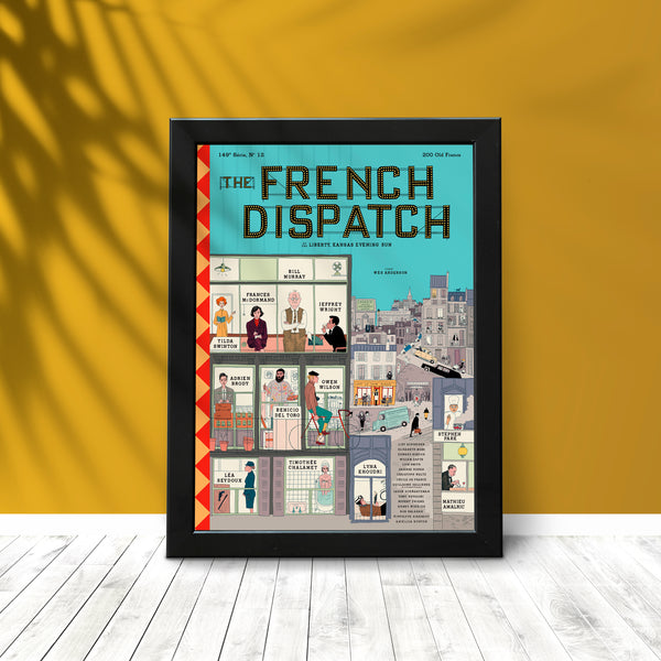 The French Dispatch Wes Anderson Poster Olbiostore Free Shipping USA