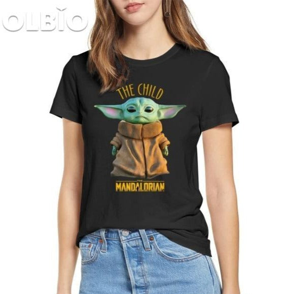 Olbio T-Shirt Baby Yoda Mandalorian Star Wars Fan Gift Free Shipping Black / S Clothes