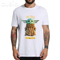 Olbio T-Shirt Baby Yoda Mandalorian Star Wars Fan Gift Free Shipping White / Xl Clothes
