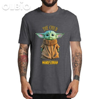 Olbio T-Shirt Baby Yoda Mandalorian Star Wars Fan Gift Free Shipping Clothes
