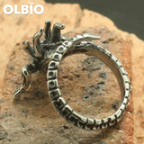 Xenomorph Aliens Silver Newest Rings Men 316L Stainless Steel Jewelries