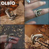 Aliens Fan Baby Xenomorph Adjustable Copper Ring