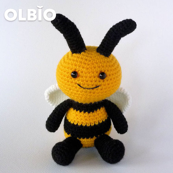 OLBIO Amigurumi Crochet Happy Bee Toy