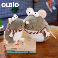 OLBIO Cute Smiling Mouse Plush Toy