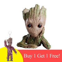 OLBIO Baby Groot Cute Toy Pot Holder Model Toy & Keychain
