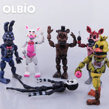 OLBIO 6 pcs FNAF PVC Action Figures Toys FREE SHIPPING