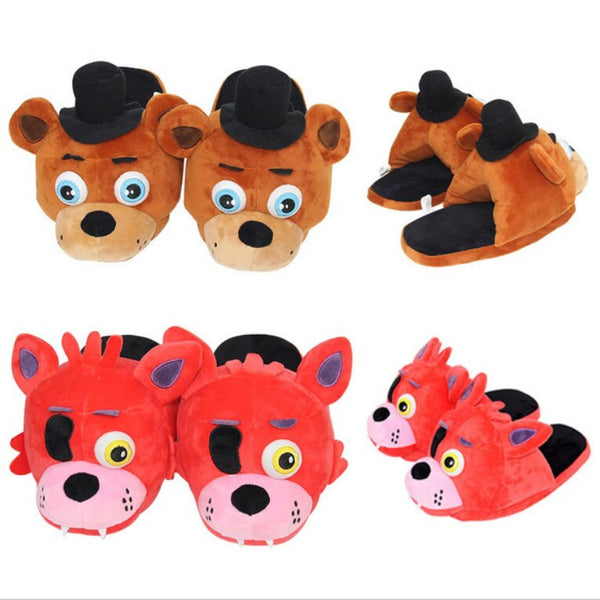 OLBIO FNAF Plush Slippers Five Nights At Freddy's Foxy Fazbear FREE SHIPPING