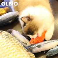 Olbio Flopping Fish Cat Creative 3D Plush Toy Catnip Shape