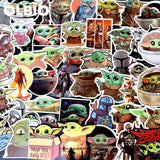 50Pcs/lot Stickers Baby Yoda Star Wars The Mandalorian Child Free Shipping!