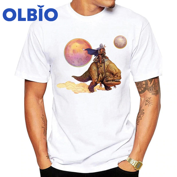 OLBIO The Mandalorian T-Shirt Riding Blurrg Through Desert FREE SHIPPING