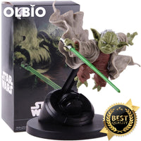 OLBIO Star Wars Master Yoda Jedi Knight Fighting Version PVC Master Action Figure