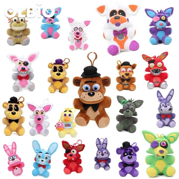 Olbio Fnaf Five Nights At Freddys 4 Plush Pendant Fazbear Keychain