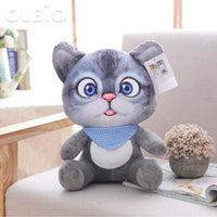 Olbio 3D Simulation Stuffed Cat Toys Double-Side Seat Sofa Pillow Free Shipping 20Cm / 2