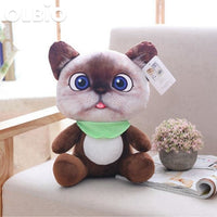 Olbio 3D Simulation Stuffed Cat Toys Double-Side Seat Sofa Pillow Free Shipping 20Cm / 3