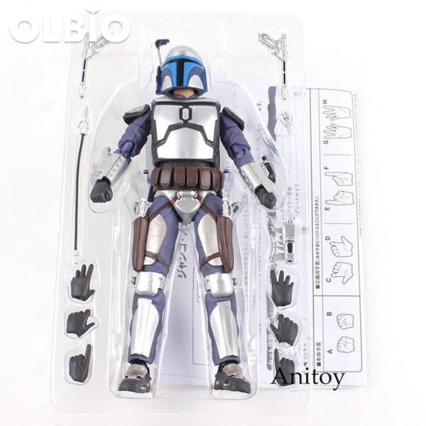 Olbio Jango Fett Bounty Hunter Pvc Action Figures Collectible Model Toy No Box