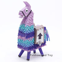 Hot Game Fortnight Alpaca Rainbow Horse Llama Figure Anniversary Special Edition Llama PVC Models Collection Toys Gifts