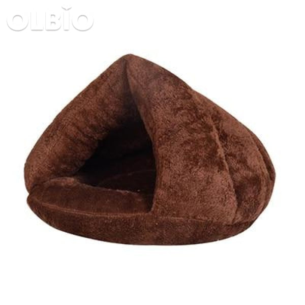 Pet Bed Cave For Cats And Dogs Soft Nest Coffee / 40X40X30 China