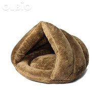 Pet Bed Cave For Cats And Dogs Soft Nest Brown / 40X40X30 China