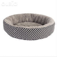 Soft Cat Round Bed Warm Sleeping Mat Gray / 45Cmx10Cm
