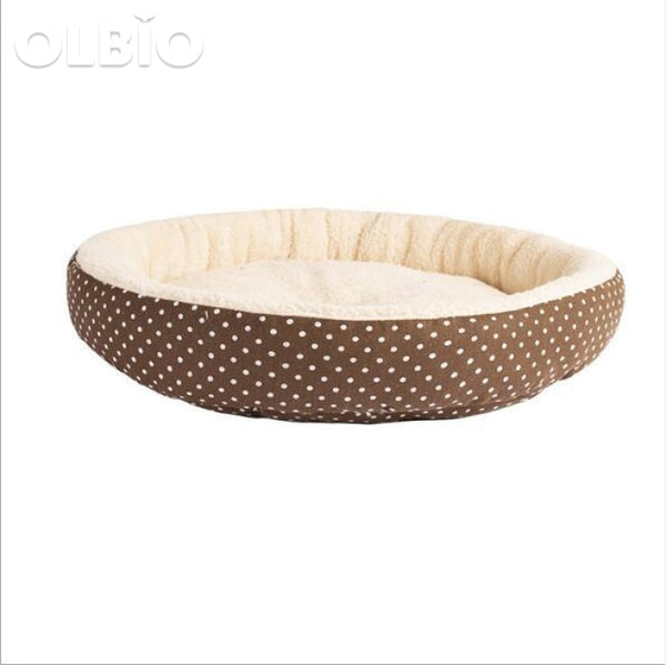 Soft Cat Round Bed Warm Sleeping Mat Brown / 45Cmx10Cm