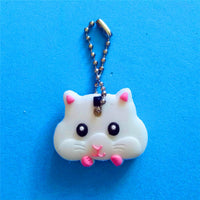 OLBIO Silicone Pets Keychain cat dog rabbit butterfly smile panda