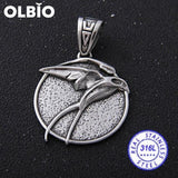 Olbio Witcher Wolf Head Medallion Cosplay Geralt Rivia Pendant Necklace Free Shipping No Chain 3 /