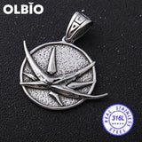Olbio Witcher Wolf Head Medallion Cosplay Geralt Rivia Pendant Necklace Free Shipping No Chain 4 /