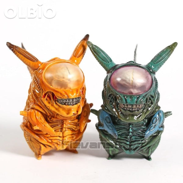 Olbio Aliens Xenomorph Pikachu Pokemon Collectible Model