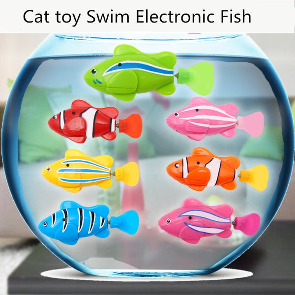 OLBIO Moving Fish Cat Toy Interactive Swimming Robot Fish *FREE SHIPPING!