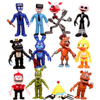 FNAF World Sister Location Figures Five Nights At Freddy's Baby Pizza Ballora Foxy Freddy bear Ennard Springtrap Model Kids Toys