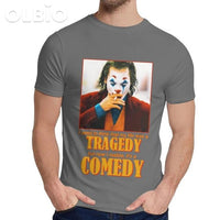 Olbio T-Shirt Joker Joquin Phoenix Dark Grey / 5Xl