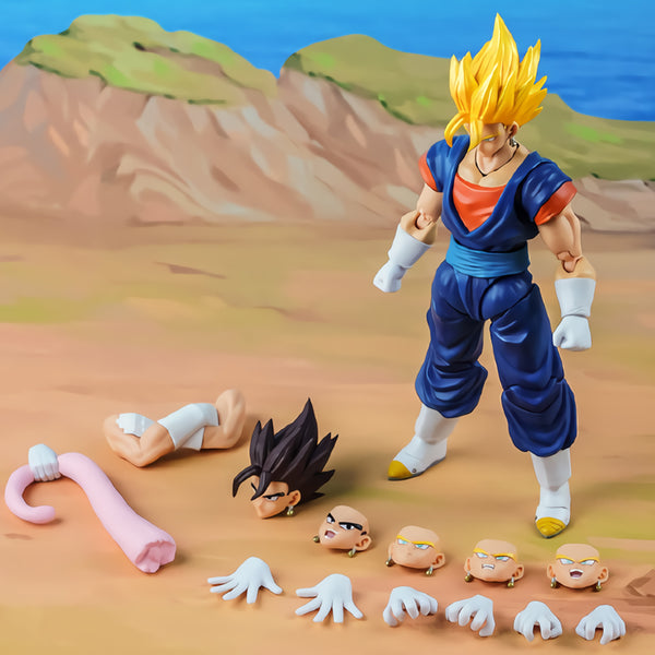 Tronzo Demoniacal Fit Dragon Ball Super SSJ Vegetto SHF Action Figure DBZ Vegito Vegetto Blue Hair Figuine Model Doll Toys Gift