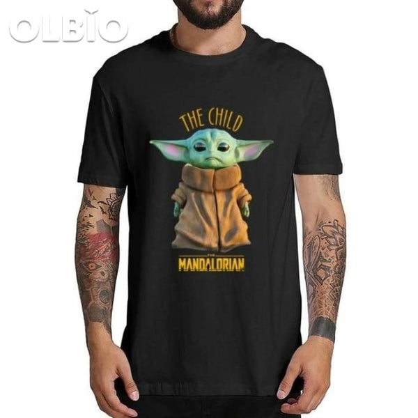 Olbio T-Shirt Baby Yoda Mandalorian Star Wars Fan Gift Free Shipping Black / L Clothes