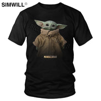 Lovely Baby Child Yoda T Shirt Men Star Wars Mandalorian T-Shirt Short Sleeved Cotton Print Tshirt Fan Tee Gift Idea Merchandise