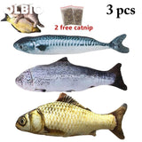 3Pcs/lot Olbio Flopping Fish Cat Creative 3D Plush Toy Catnip Shape Free Shipping