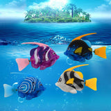 Flash Swimming Electronic Pet Fish Bath Toys for Children Kids Bathtub Battery Powered Swim Robotic for Fishing Tank Decoration2