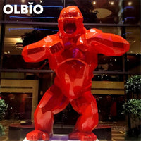 Wild Kong Red Abstract Sculpture 20Cm Collectible