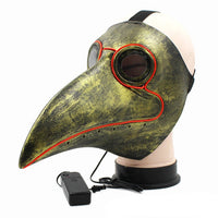 PLAGUE DOCTOR LED BEAK MASKS