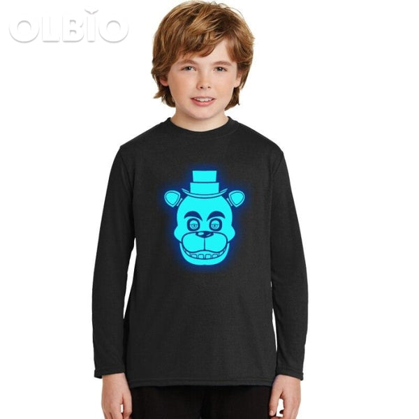 Five Night At Freddys Boys Cotton T-Shirt Long Sleeve