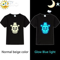 Five Night At Freddys Boys Cotton T-Shirt Long Sleeve Glow Short / 6 China