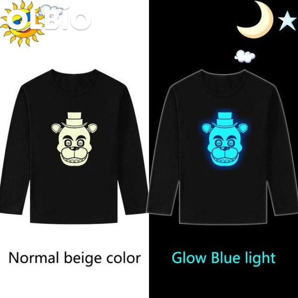 Five Night At Freddys Boys Cotton T-Shirt Long Sleeve Glow / Xxxl China