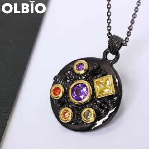 Pendant Necklace Infinity Stone