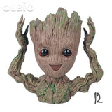 Olbio Baby Groot Flowerpot Cute Toy Pen Pot Holder Model & Keychain 12