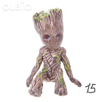Olbio Baby Groot Flowerpot Cute Toy Pen Pot Holder Model & Keychain 15