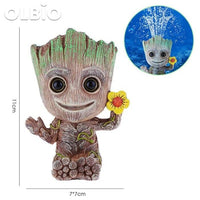 Olbio Baby Groot Flowerpot Cute Toy Pen Pot Holder Model & Keychain Pump Air Bubble